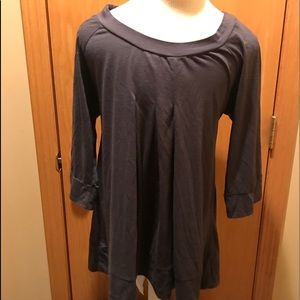 Large gray maternity top